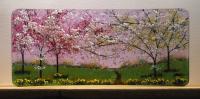 <h2>Blossom & Daffodils</h2><p>Half C shaped curve 16cm x 37cm</p>